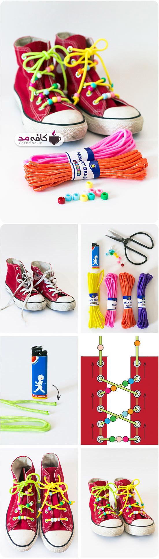 کفش با بند رنگی