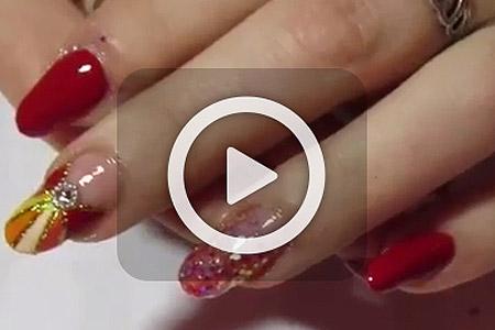 فیلم آموزش طراحی روی ناخن