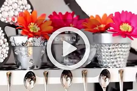 فیلم آموزش تزئین گلدان 1