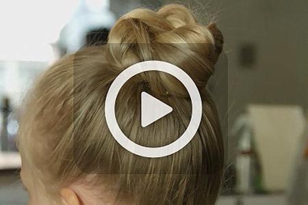 فیلم آموزش بافت موی دخترانه 3