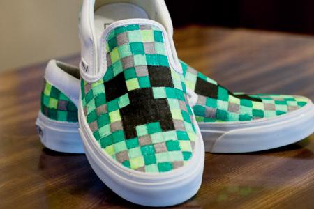 آموزش تزیین کفش با طرح شطرنجی