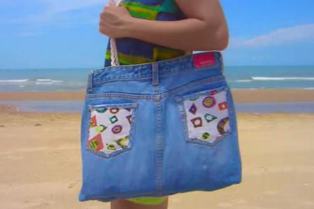 فیلم دوخت کیف با شلوار جین