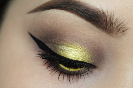 مدل آرایش زرد چشم