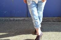 مدل شلوار لی گلدار زنانه