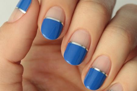 آموزش آرایش ناخن آبی
