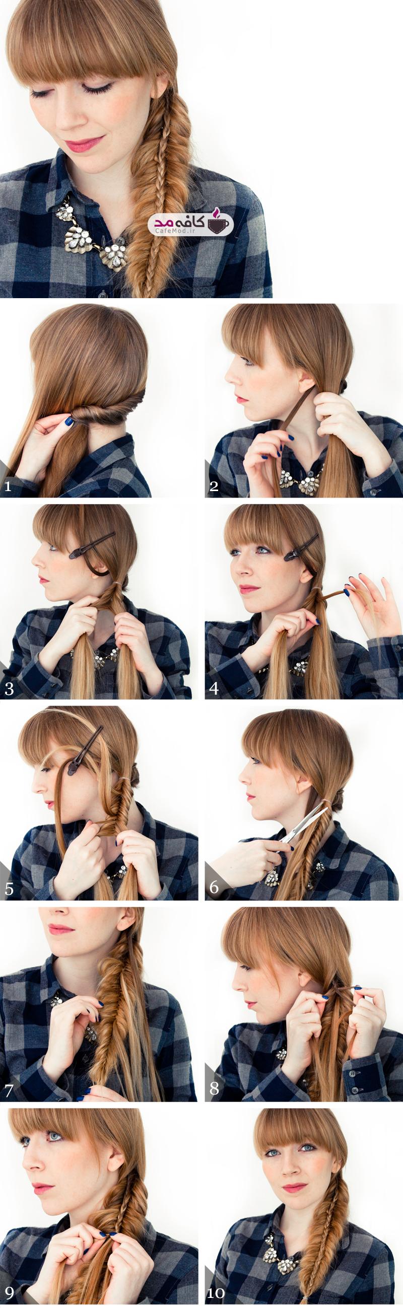 آموزش آرایش و بافت مو