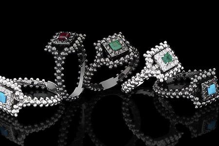مدل جواهرات Carla Amorim