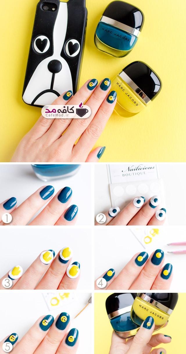 آموزش طراحی شکلک روی ناخن