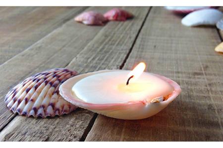 آموزش ساخت شمع صدفی