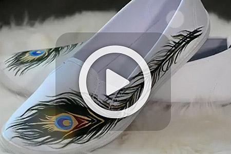 فیلم طرح پر طاووس روی کفش 1