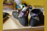 آموزش تزیین کفش کهنه