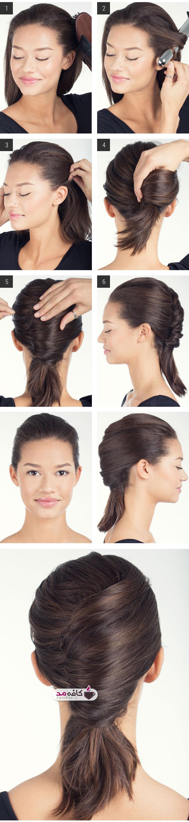 آموزش آرایش موی متوسط