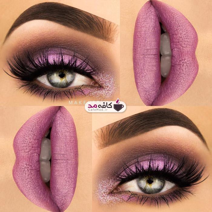 مدل آرایش چشم و لب