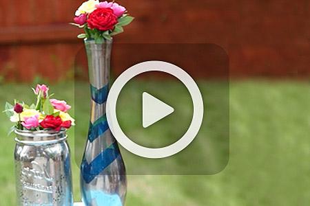 فیلم آموزش تزیین گلدان 1