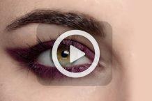 فیلم آرایش چشم بنفش
