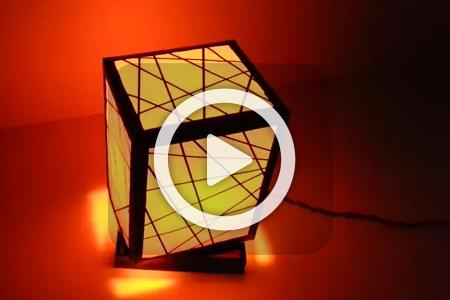 فیلم ساخت چراغ خواب مقوایی