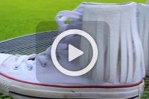فیلم تزیین کفش اسپورت با چرم