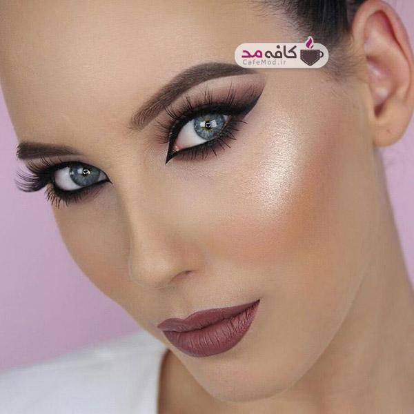 مدل آرایش شیک صورت زنانه