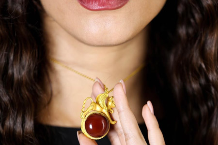 مدل نیم ست طلا ایرانی فرهومند 10