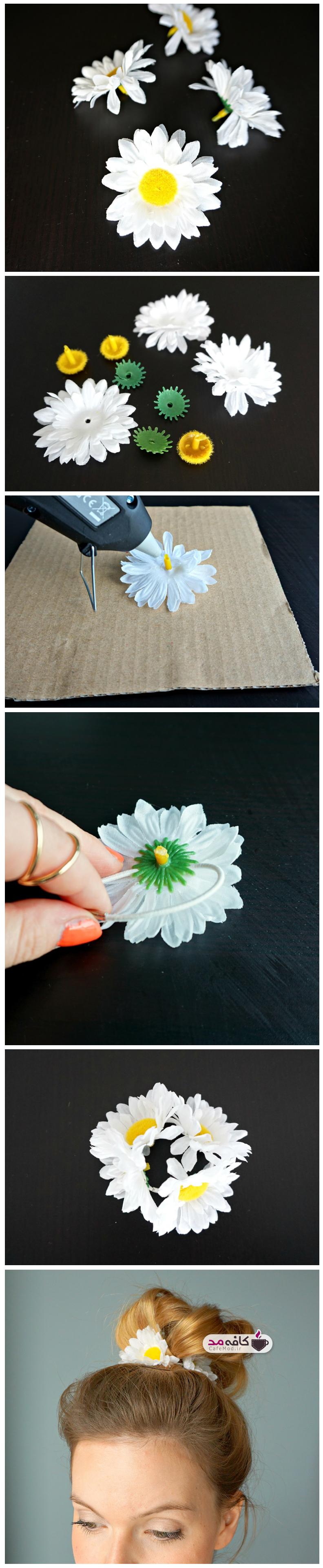 آموزش گل سر گلدار
