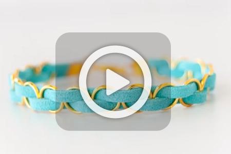 فیلم آموزش دستبند چرم و حلقه