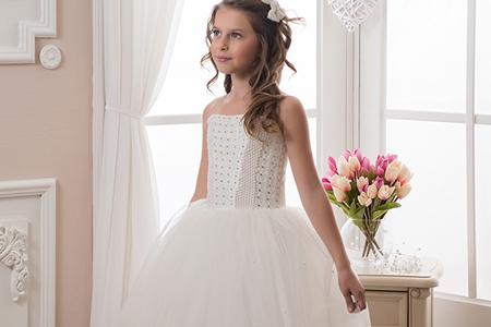 مدل لباس عروس دخترانه پفی 10