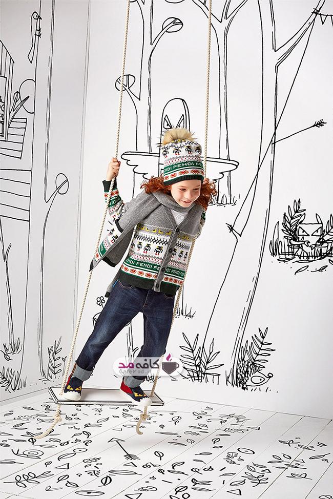 مدل لباس بچگانه Fendi