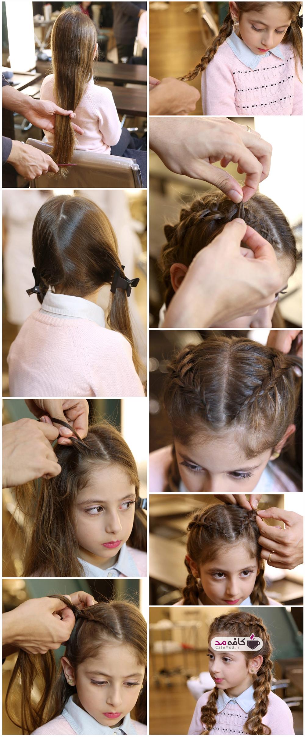 آموزش بافت موی دخترانه