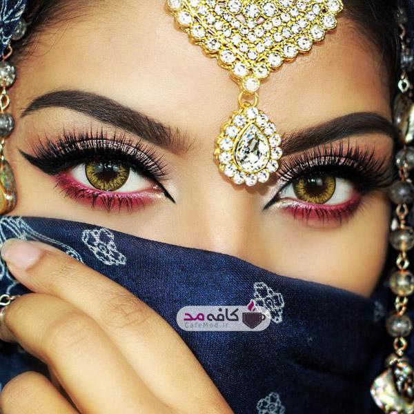 مدل آرایش چشم هندی