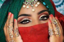 آرایش هندی چشم عروس