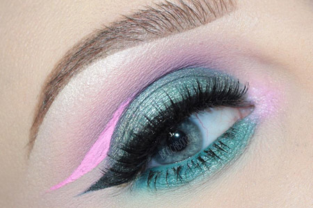 مدل آرایش رنگارنگ چشم 11