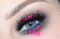 مدل آرایش رنگی چشم