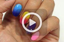 فیلم آرایش ناخن در پنج طرح