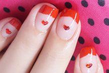 آموزش تصویری آرایش ناخن قلبی