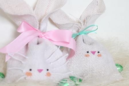 فیلم ساخت کیسه هدیه خرگوشی