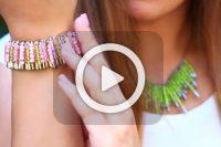 فیلم ساخت دستبند با سنجاق قفلی