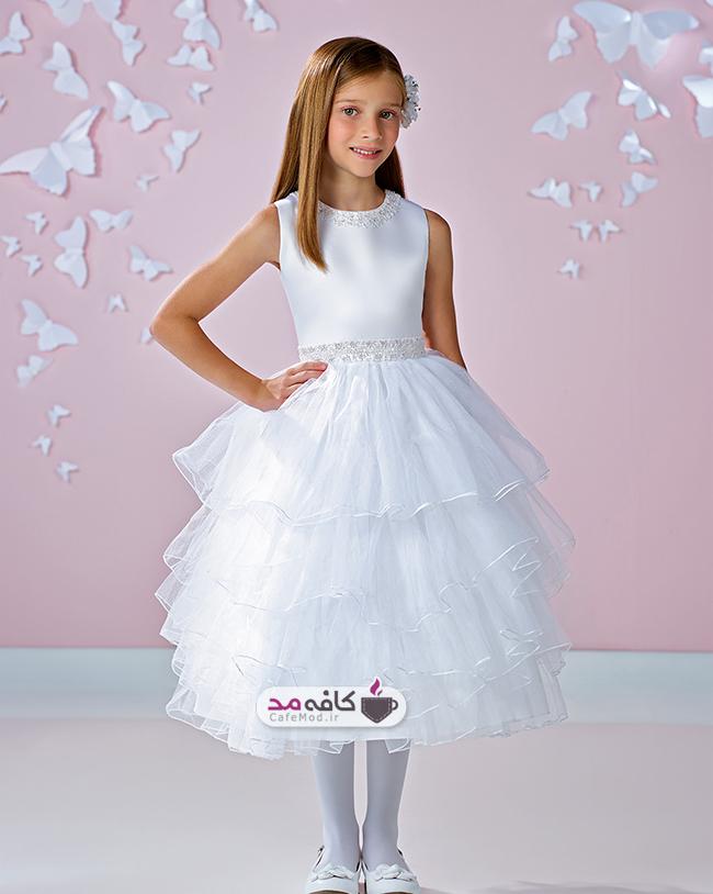 مدل لباس عروس دخترانه Joan Calabrese