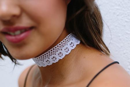آموزش تصویری ساخت گردن آویز توری