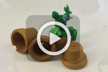 فیلم ساخت گلدان های کوچک خمیری