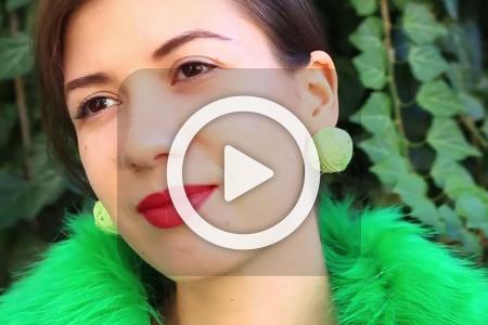 فیلم ساخت گوشواره های کاموایی