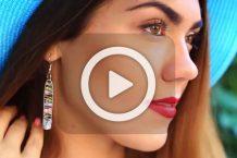 فیلم ساخت گوشواره با سنجاق قفلی