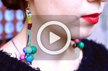 فیلم ساخت گوشواره های آویز توپی