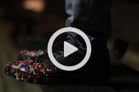 فیلم تغییر کفش به طرح کهکشانی