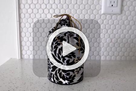 فیلم ساخت کیف آرایش با لیوان