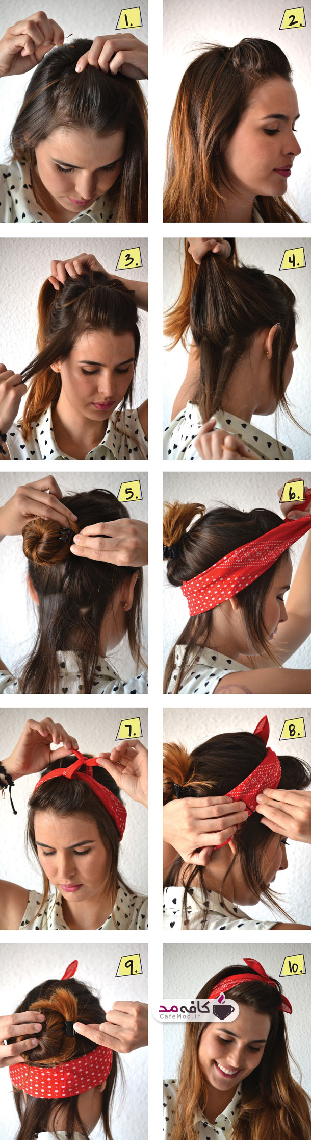 آموزش بستن موها با هد بند