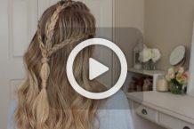 فیلم بافت موی دخترانه بلند