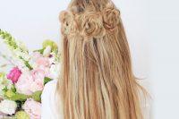 آموزش آرایش مو با سه گل