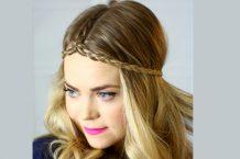 آموزش آرایش موی دخترانه با بافت