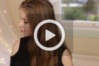 فیلم بافت موی دخترانه ساده