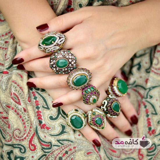 مدل انگشترهای سنگی